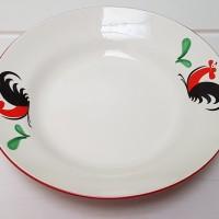 (HANYA GOJEK) SIERA MOTIF AYAM JAGO Piring Makan Keramik 9 inchi KPB9D