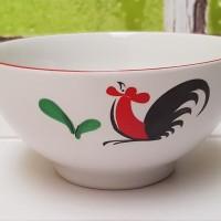 (HANYA GOJEK) SIERA MOTIF AYAM JAGO Mangkok Sop Keramik 6inchi KPQ6B