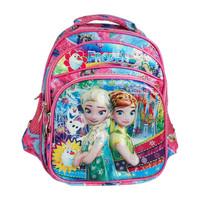TD Tas Ransel Anak Karakter Pink Frozen / Backpack Sekolah 3D