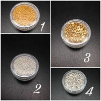 Gold & Silver Nail Glitter
