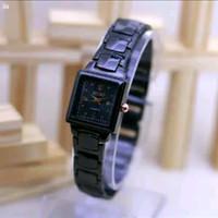 jam tangan wanita saiko rantai full hitam diameter 2,6cm