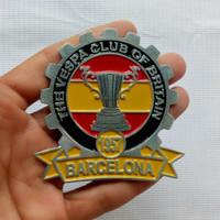 Vintage Vespa Placca Badge BRITIAN Club 1957 Barcelona DOUGLAS HOFFMAN