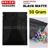 SACHET BLACK MATTE 50GR/PLASTIK KLIP AKSESORIS HP/KEMASAN KOPI/BAG