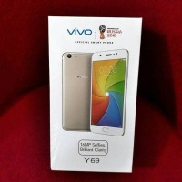 New Hp Vivo Y69 Ram 3/33GB (VIVO 1714 4G LTE) - O.S NOUGAT - Gold