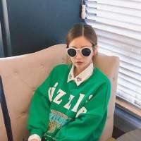 sweater tebal artis korea snsd hip hop winter luaran blouse hem sale