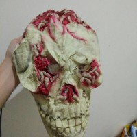 sale topeng Halloween Mask Latex import worm skull