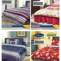 NEW MOTIF BEDCOVER SET CALIFORNIA KING 180X200 / BED COVER SET / BADCO