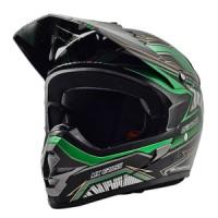 Helm Cargloss MXC MOTOSPORT GREEN MET DEEP BLACK
