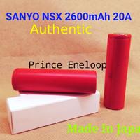 Baterai SANYO 18650 UR18650NSX 2600mAh 20A (Pesaing AWT LG HG2 VTC4)