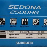 PROMO Reel Pancing Shimano Sedona 2500HG 3 1BB TERMURAH