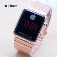 Jam Tangan Pria / Wanita Iphone LED Stainless Pasir Touch Watch
