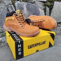 Sepatu Gunung Caterpillar Safety coklat Tan Middle Boots