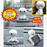 Aksesoris Boneka Per Dashboard Mobil - Kepala Goyang Baymax Lucu