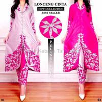 Exlusive dan Terlaris Set abaya lonceng cinta silver dan pink origina