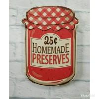 Hiasan Dinding Poster Kafe Restoran Classic Bentuk Toples Homemade