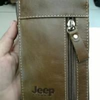 Harga dompet hp jeep kulit asli sarung hp pria coklat   antitipu.com