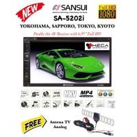 SANSUI SA-5202i FULL HD SA5202i MKV Tape TV Mobil Double din Head Unit