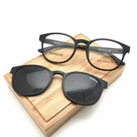 Paket Kacamata SWATCH OUVAL CLIP ON + Lensa Minus & Polarized