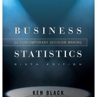 BUKU TERBARU STATISTICS FOR BUSINESS - KEN BLACK in CD