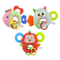 Happy Monkey Teether Plush Toy-Mainan Anak Teether-Mainan Bayi Rattle