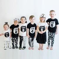 Pakaian Baju Kaos T Bayi Baru Lahir Perempuan Laki-Laki Kakak Adik