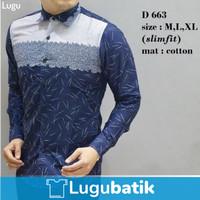 baju kemeja batik lengan panjang / batik jakarta / batik katun halus