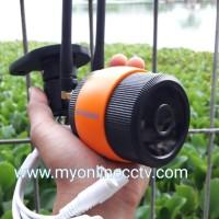 IP Cam CCTV Outdoor Wireless Paket Camera Praktis Wifi Tahan Air + MMC