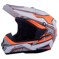Cargloss MXC Motosport Helm Motocross - Orange SP White - Orange, SIZE L