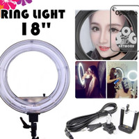Ring Light 18 Inch With Dimmer Untuk Make Up Rias - Studio Foto -video