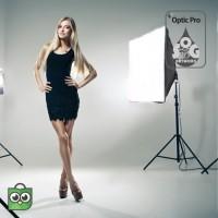 Paket Lampu Studio Lamp Holder Softbox E27 - Light Stand - Studio Foto