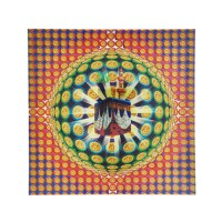 """Kaligrafi Hologram Lembaran """"Ka'bah"""" Ukuran 33x33 cm (020)"""