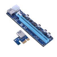 Rgeek 008c | PCI-E Riser Card PCIE 1x to 16x Extender- 6 pin - Rgeek