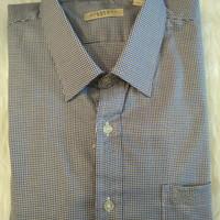 Baju Kemeja Pendek Pria Burberry motif Kotak kecil