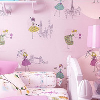 wallpaper pink- wallpaper kamar anak - wallpaper barbie