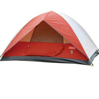 Tenda 6 Orang Coleman Sundome 6 Tent Red/Grey