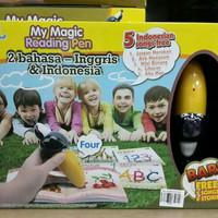 Magic Reading Pen B. inggris Ind Mainan edukasi buku anak bolpen