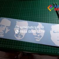 Sticker Cutting Metallica Face siluet Motor Mobil