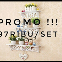 Promo!!RAK SHABBY SUDAH READY DAN SEDANG PROMO (READY TDK BANYAK JGN S