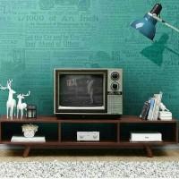 meja tv, rak tv, tv stand kayu jati minimalis retro modern