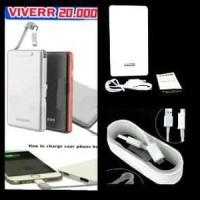 Jual power bank viverr 20000mAh original gratis kabel data samsung Murah Murah