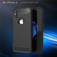 iPhone X - 7 8 Plus spigen like cover case casing carbon hp FIBER LINE