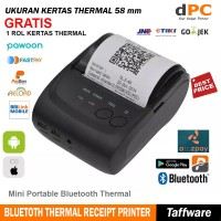 Mini Portable Bluetooth Thermal Receipt Printer [Zjiang ZJ-5802]