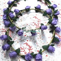 Purple Flowers Crown / Mahkota Bunga / Crown Flower / Mahkota Pesta