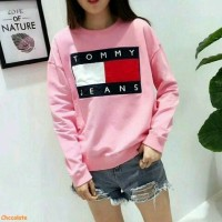Sweater tommy pink,baju murah,sweater lucu,fashion wanita,promo,AL