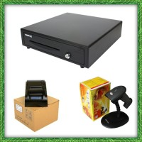 PAKET KOMPUTER KASIR   BARCODE SCANNER AUTO CASH DRAWER PRINTER KASIR