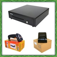 PAKET KOMPUTER KASIR  HARGA EKONOMIS  BARCODE  PRINTER CASH DRAWER