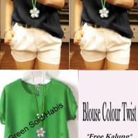 FASHION : Blouse Colour Twiscone -JMS