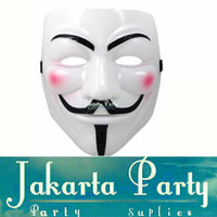 Topeng Anonymous Vendetta Guy Fawkes - Topeng Pesta - Grosir Murah