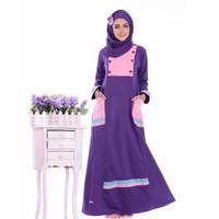 PROMO HOT SALE | Baju Dress Wanita Gamis ALNITA AG-21 UNGU TERONG