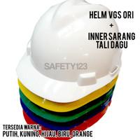 Helm Proyek VGS Original + Inner Sarang Tali dagu Lengkap Murah VGuard